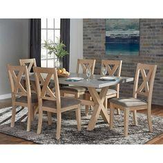 Cierra Zinc Top 7-piece Dining Set