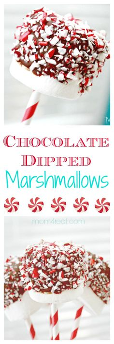 Chocolate Dipped Marshmallows with Sprinkles