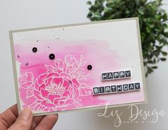 Stampin Up Birthday Blooms Card by Stampin with Liz Design