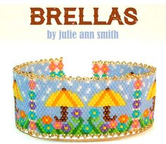 BRELLAS Beaded Bracelet Pattern by Julie Ann Smith at Bead-Patterns.com