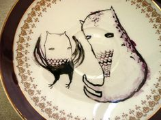 Monster & Bird plate