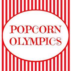 The Popcorn Olympics ~ www.oneshetwoshe.com #activities #fhe #family