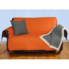 "EZ Living Home Circle Quilted Cotton Throw Size: Medium (1""H x 40 ""W x 29""L), Color: Tangerine"