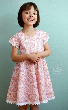 ORGANIC Cotton Rainbow Paisley Toddler Twirly Dress ~Boho Hippy Indian 2 3 4 5 6