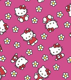 Find Hello Kitty Fabric from Joann.com || Hello Kitty Flower Flannel Fabric