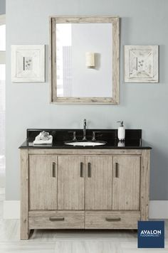 "Oasis 48"" Bathroom Vanity shown in the Sand Pebble color 