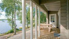 Lähde löytöretkelle vapaa-ajan asumisen maailmaan - kuvassa Honka Löytöretki. Log Cabins, Pergola, Outdoor Structures, Wood Cabins, Outdoor Pergola, Log Cabin Homes