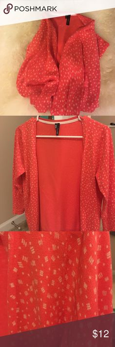 Adorable red patterned cardigan! Soft, comfortable, and lightweight! Maurices Sweaters Cardigans