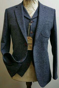 Mens 3 piece Donegal Tweed Suit by Gibson London NWT Rrp £329 42r Peaky Blinders More