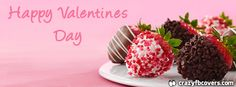 Gourmet Strawberries Happy Valentines Day Facebook Cover Facebook Timeline Cover