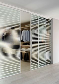 The Line internal door is a sliding door system with a unique aluminium frame design. With a slim aluminium framing design that cuts over the face of glass you can create a unique glass door design. Internal Door Frames, Internal Glass Sliding Doors, Sliding Door Systems, Glass Doors, Folding Wardrobe, Sliding Wardrobe Doors, Walk In Closet Small, Small Closets, Aluminium Glass Door