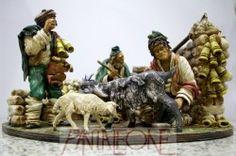 Gruppo Pastori con pecore  in terracotta - 20086PG