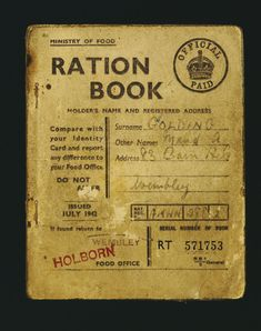 make do and mend 1940s rationing english clothing ration book rh pinterest com Ration Books and Stamps Gas Ration Book