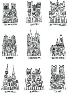 plottac:  Nine cathedrals in France by maralina! on Flickr.