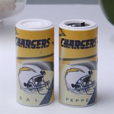 San Diego Chargers Refillable Salt and Pepper Shakers