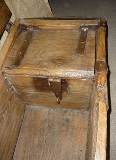 14th Century Medieval English Oak Iron Bound Chest