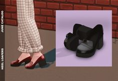 The Sims 4 Heel Loafers The Sims 4 Pc, Sims Four, Sims 4 Mm Cc, Sims 4 Cas, Maxis, Sims 4 Mods Clothes, Sims 4 Clothing, Vêtement Harris Tweed, Pelo Sims
