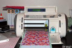 Sew Woodsy: Tutorial: Cutting Heat-N-Bond Adhered Fabric with the Cricut