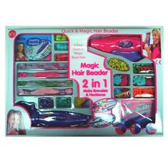 Magic Hair Beader 2 in 1 by A-Z toys angelkids http://www.amazon.co.uk/dp/B00BKUZOAA/ref=cm_sw_r_pi_dp_Prp1tb08J0T87GDZ