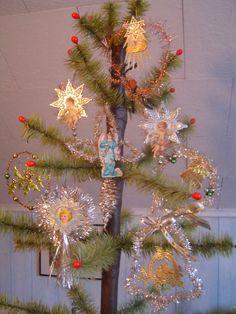 handmade victorian ornaments | Handmade Victorian Cherub Angel Scrap Dresden Christmas Ornament. $29 ...