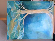 My latest worship art. More in this style to follow. :) abstract tree. Acrylic. 30x36