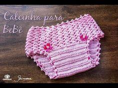 Calcinha de Bebê em Crochê - Professora Simone