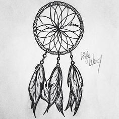 Dream catcher tattoo, throw in a compass in the center and I love it!