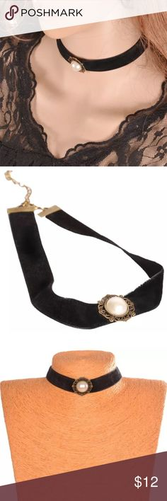Vogue Runway White Pearl Black Velvet Choker Sexy Hot White Pearl Black Velvet Choker #vogue #runway #fashion  (Search words) #Christmas #Tree #Green #Red #White #Gold #Snowman #Christmassongs #Gift #Present #Blackfriday #Giftcard #Party Jewelry Necklaces