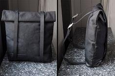 Zwart Canvas rugzak zwarte rugzak rugzak leuke door INTERICON