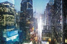 rainy New York by Christophe Jacrot