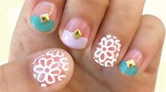 The Perfect Summer Manicure For Short Nails. #Nail #Art