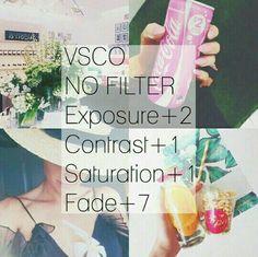 No Filtro Exposicion: +2 Contraste: +1 Saturacion: +1 Decolorar: +7