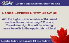 Express Entry Draw 45 with the highest ever invitations sent is out. Click below link to know more information on Canada Immigration and grab this opportunity today at Make Visas.