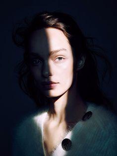Luma Grothe by Eric Traoré for Madame Figaro October 2015 Fashion Editor: Julie Gillet Hair: Stephane Lancien Makeup: Karim Rahman