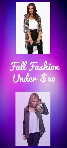 Find Fall Fashion for Under $40!