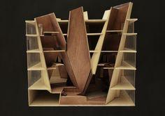 Concept Model:  Library Project - Andrew Cornelis - UC Berkeley Architecture