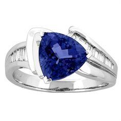 Angara Tanzanite and Diamond Engagement Ring in White Gold 1bNwqQ