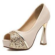 Women's Shoes Smandy Peep Toe Spool Heel Pumps wi... – USD $ 29.99