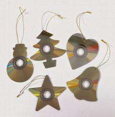 Óvodás Gyerekek: Karácsonyi díszek CD lemezből