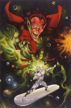 Silver Surfer vs Mephisto by Joe Jusko