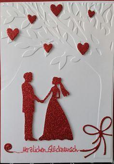 Tolle #Wedding Ideen und #Hochzeitskarten findet Ihr bei #www.scrapmemories.de ich freu mich auf Euch. Simple Wedding Cards, Wedding Day Cards, Wedding Shower Cards, Wedding Cards Handmade, Wedding Anniversary Cards, Beautiful Handmade Cards, Wedding Greetings, Hand Made Greeting Cards, Engagement Cards