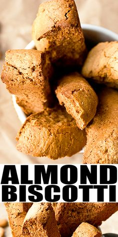 BANANA ALMOND BISCOTTI RECIPE- Easy, homemade from scratch with simple ingredients. Great way to use up ripe bananas. Rich, buttery, , nutty, crispy and crunchy! Dip it in melted white chocolate or dark chocolate or add in dried fruits and mini chocolate chips. From CakeWhiz.com #banana #chocolate #biscotti #dessert #cookies
