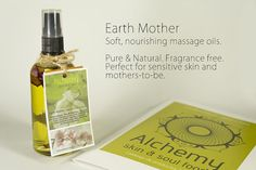 Earth Mother Body Massage Oil. Fragrance by ALCHEMYSkinandSoul