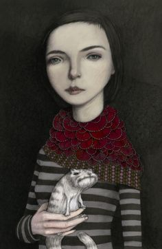 """""""A Girl With Her Cat"""" by Fabrice Backes"""