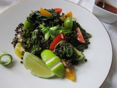 Grilled Kale Salad with Spicy Lentils
