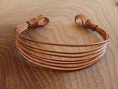 Handmade Copper Wire Bracelet / Copper Bangle by DerekMcqueen, £6.99