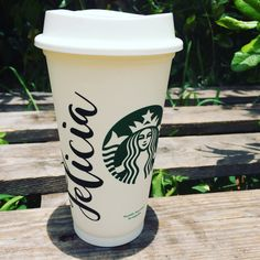 Personalized Starbucks Cup Starbucks cup Gift by DelleaDesigns