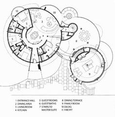 Extraordinary midcentury design in Colorado Round House is part of - Architect Emily Summers redesigned the Round House as her vacation home, originally designed in 1968 by builder Don Price in Colorado Springs, Colorado Architecture Concept Diagram, Plans Architecture, Cultural Architecture, Architecture Design, Residential Architecture, Landscape Architecture, Home Design, Plan Design, Villa Design