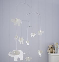 Indy Elephant Paper Mobile - from The White Company £25 - http://www.thewhitecompany.com/the-little-white-company/childrens-bedroom/bedroom-accessories/indy-elephant-paper-mobile/?refCode=IEUMO