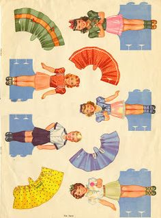 Party Cut-Out Dolls